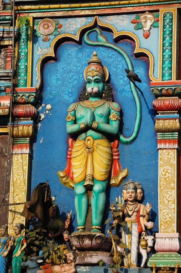 Temple wall in Matunga, Bombay