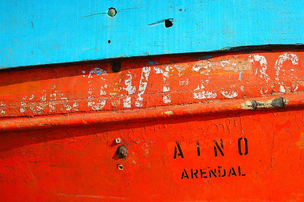 Detail of boat, Bombay