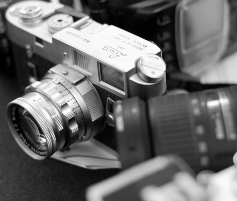 Leica and nikon cameras