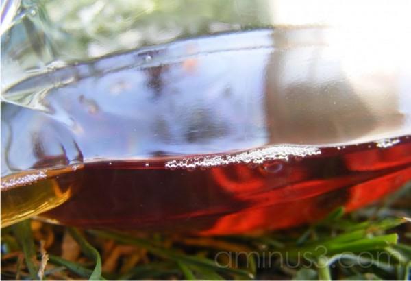 En flaske i græsset