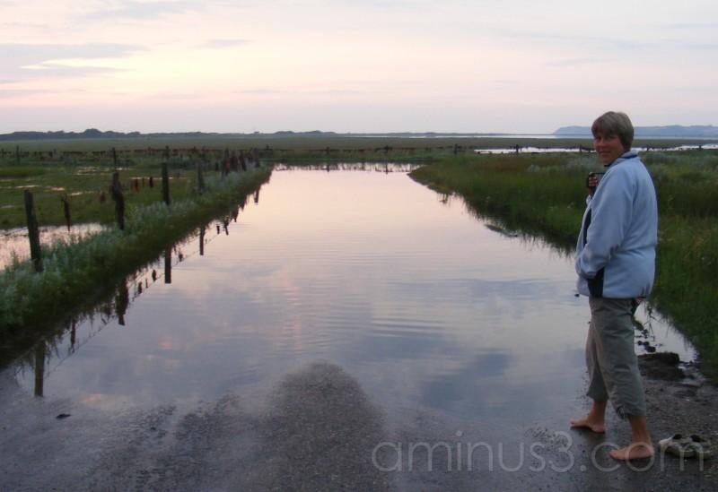 En oversvømmet vej