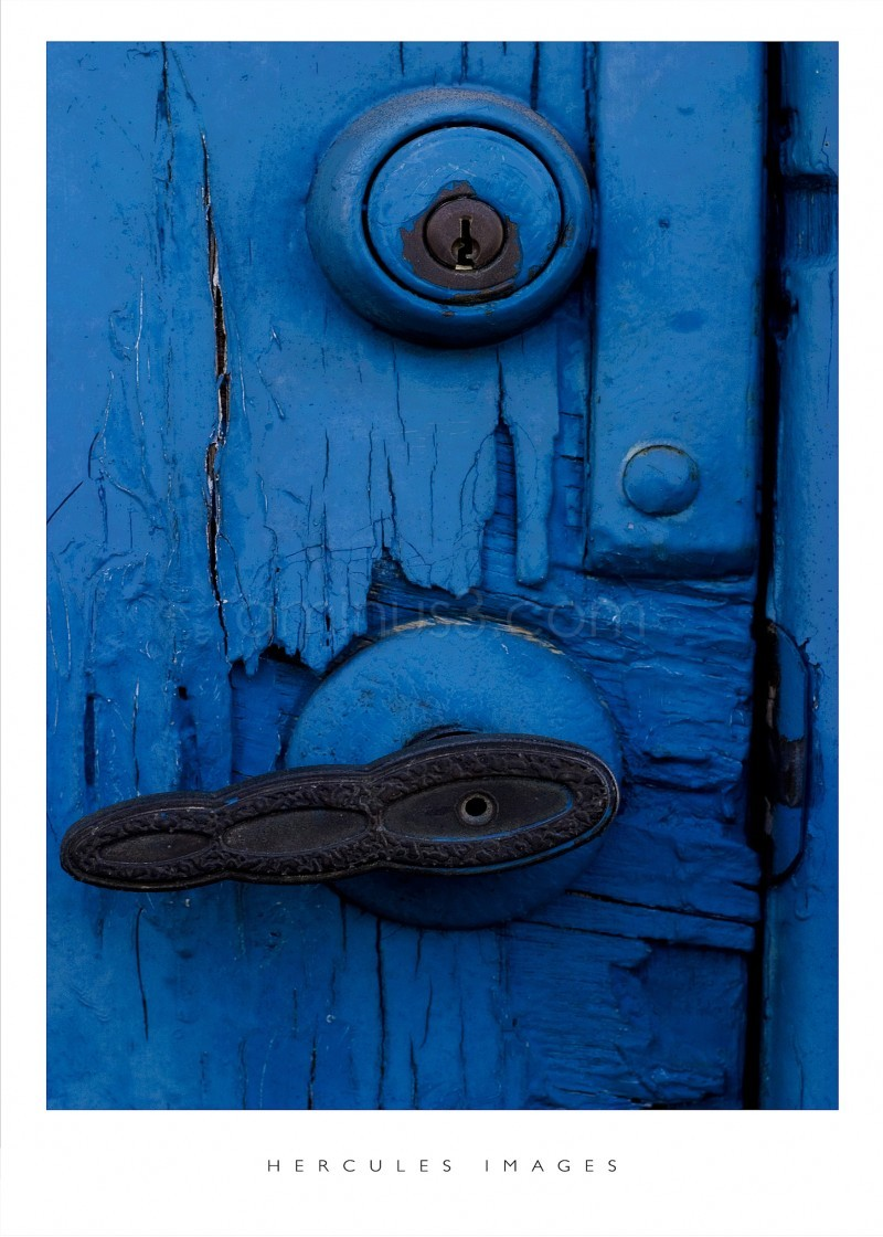 a blue door to which leads to somewhere,anywhere