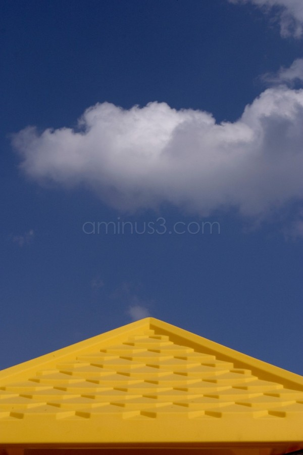 yellow pyramid  with clouds