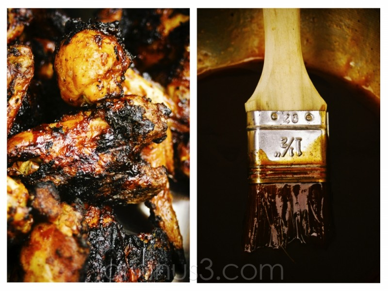 Grill chicken with BBQ Sauce