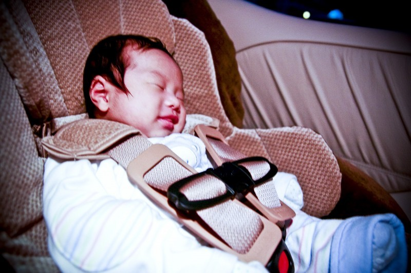 Sleeping in the car seat