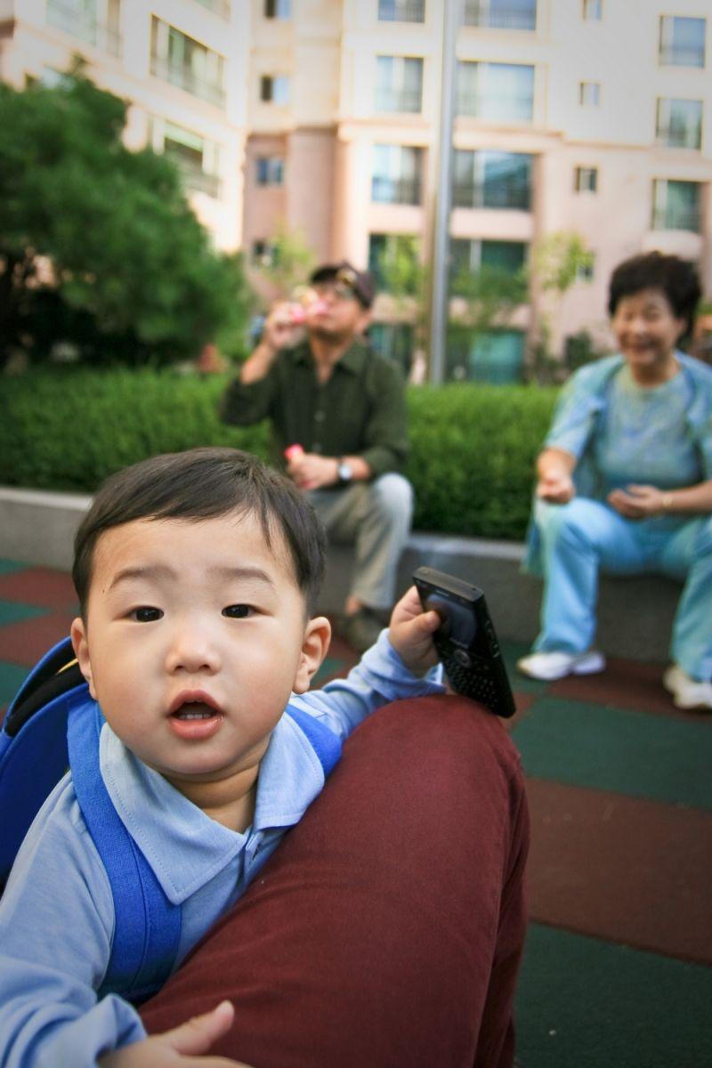 Bubbles with Grand Parents