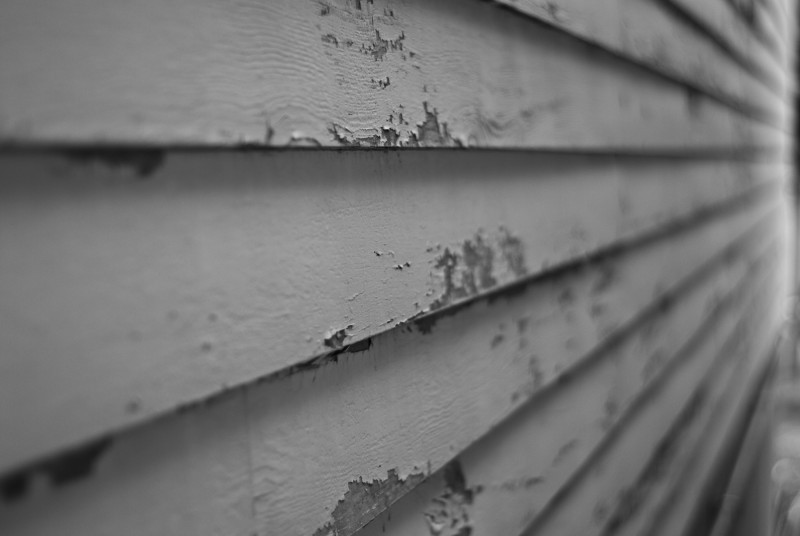 The peeling paint on the old section of my office