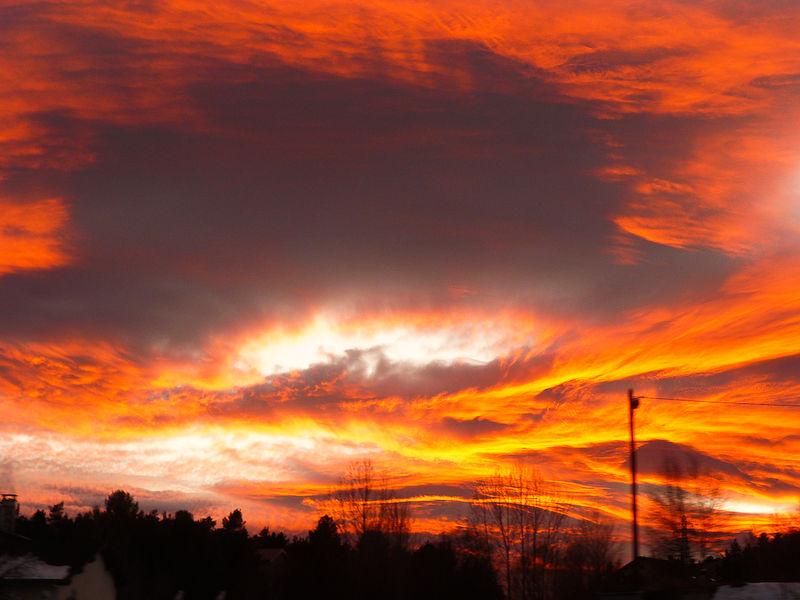 The sky lit up