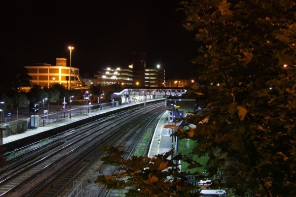 The station at night