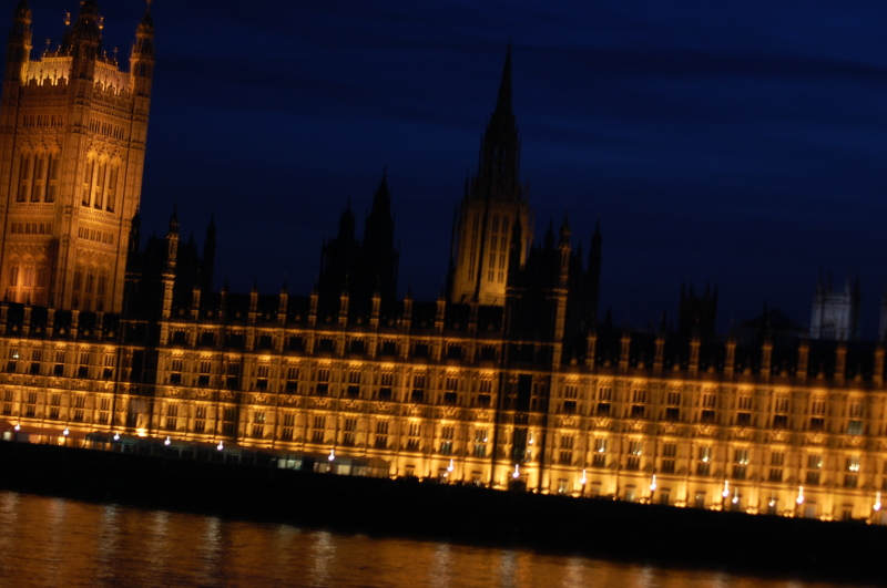 Cool blue night at the house of Parliament