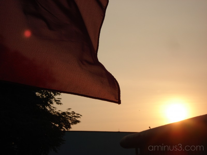 Flagging to the Sunset