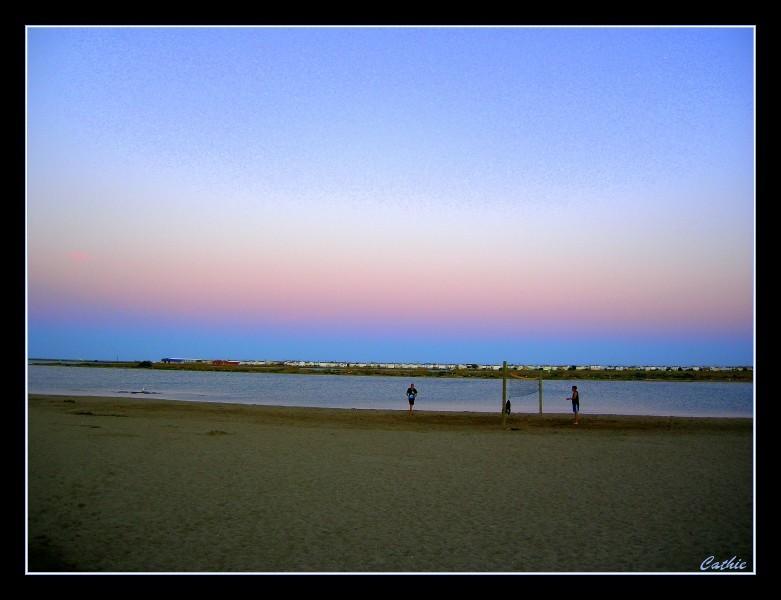 Ciel bicolor sur la plage