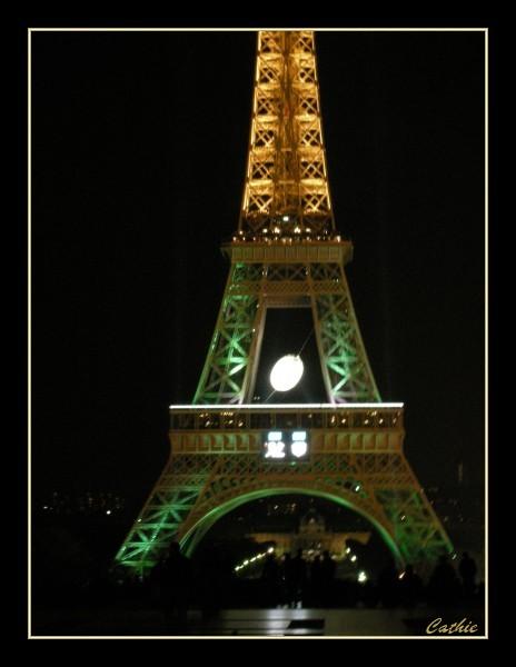 La tour eiffel pour le mondial du rugby
