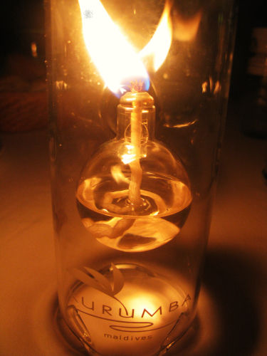 Oil lamp, light, flame