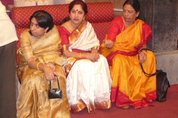 My Choto Mashi and My mother at a family gathering