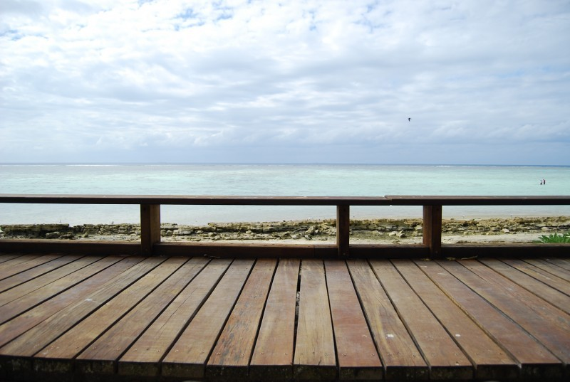View of boardwalk on Heron Island, Australia