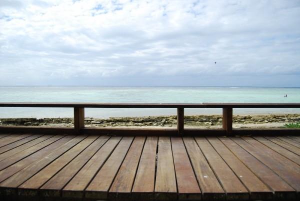 View of boardwalk on Heron Island, Australia