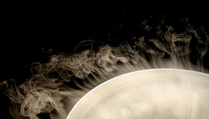 Vapour at the edge