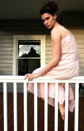 Girl on porch