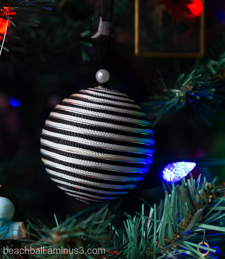 A Christmas tree ornament