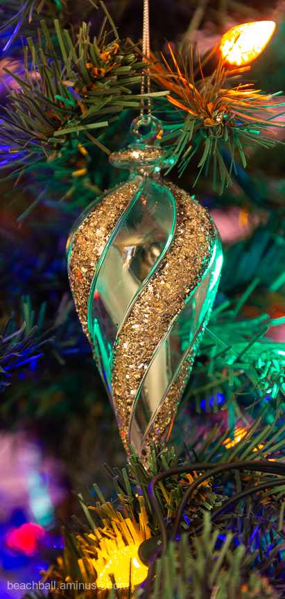 Glass Christmas tree ornament