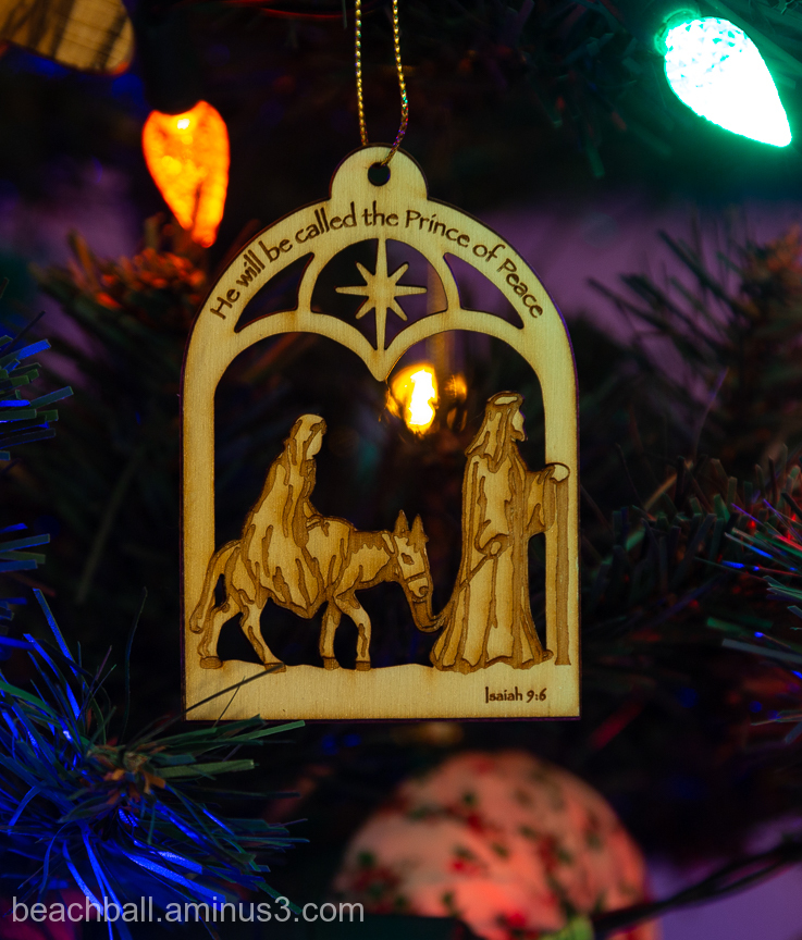 Nativity tree ornament
