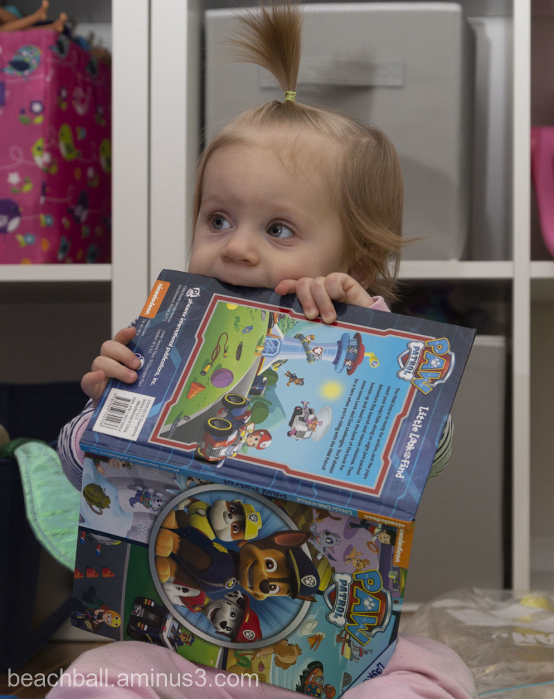 Child eating a book