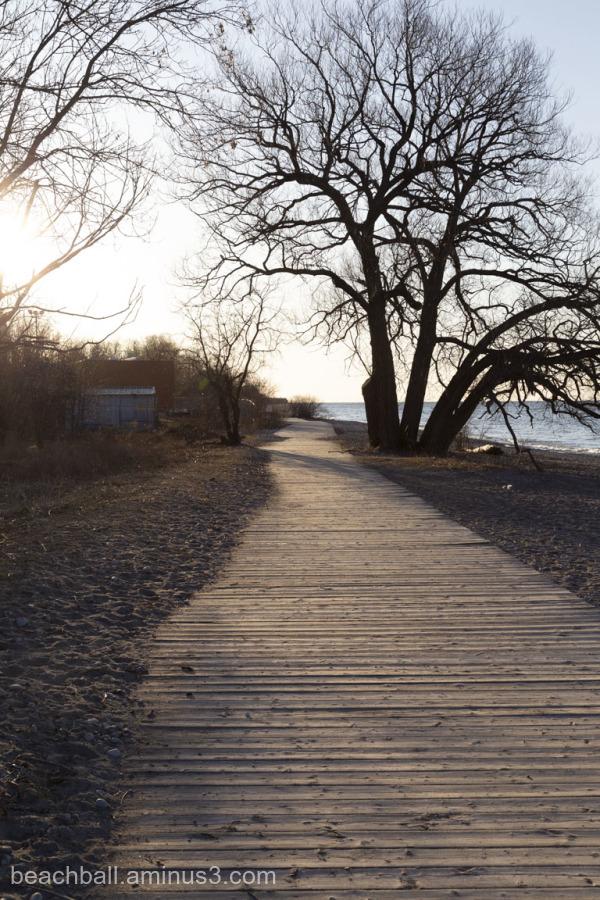 A deserted boardwalk