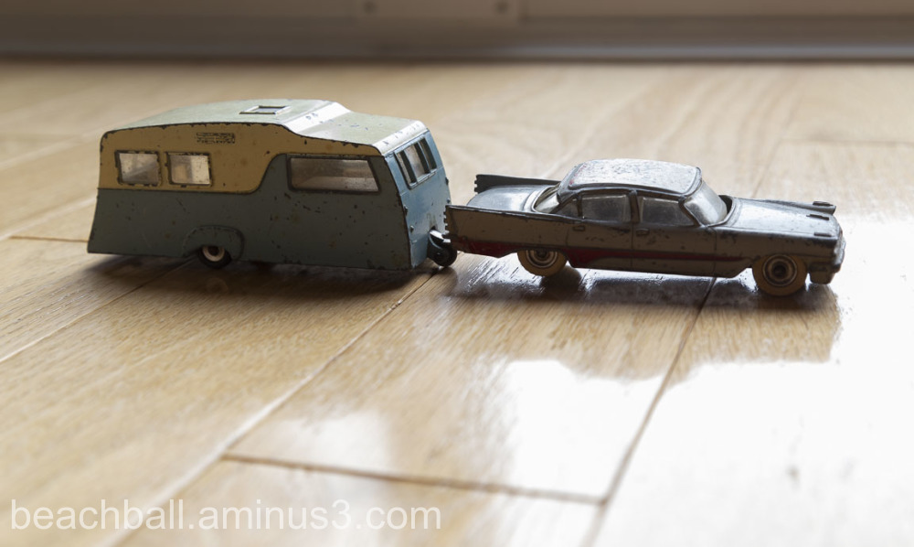Two vintage Dinky toys.