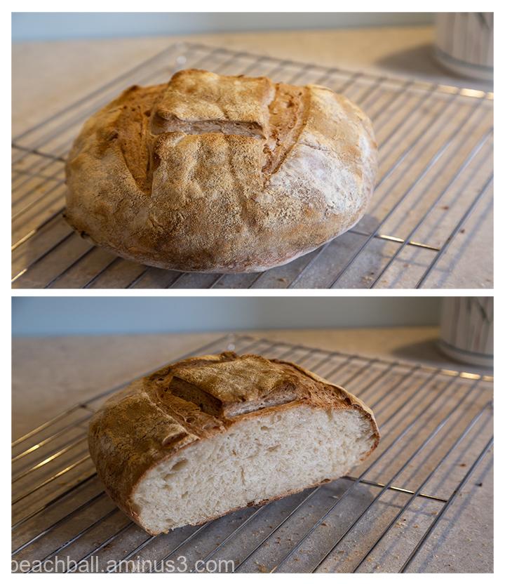 A collage of sourdough bread