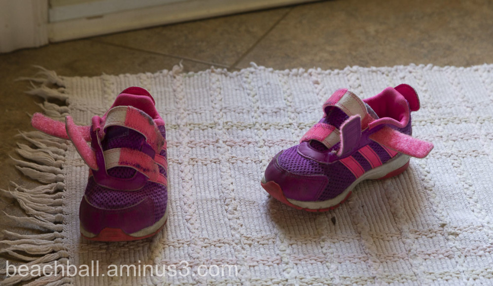 Little shoes at the door