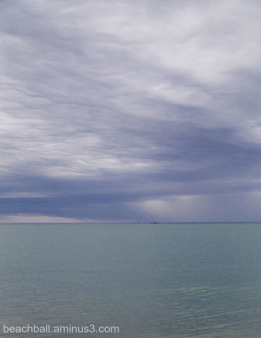 Lake Ontario under cloudy skies