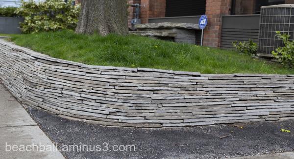 flat stone retaining wall