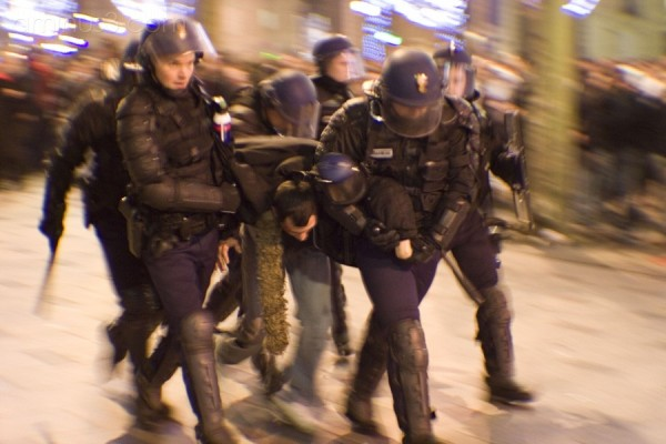 New Year and violence in Paris (Champs Elysées)