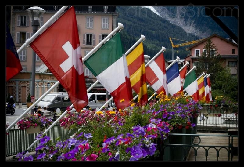 Drapeaux de Chamonix