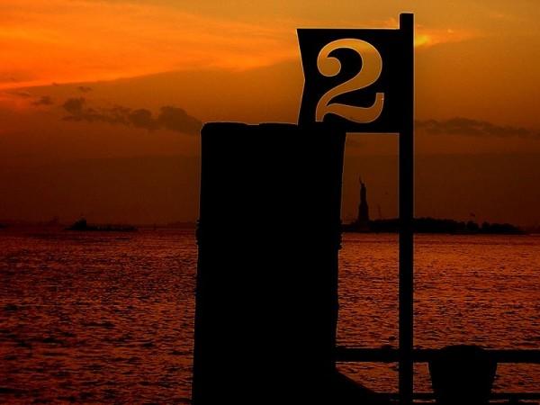Statue of Liberty, New York, sunset