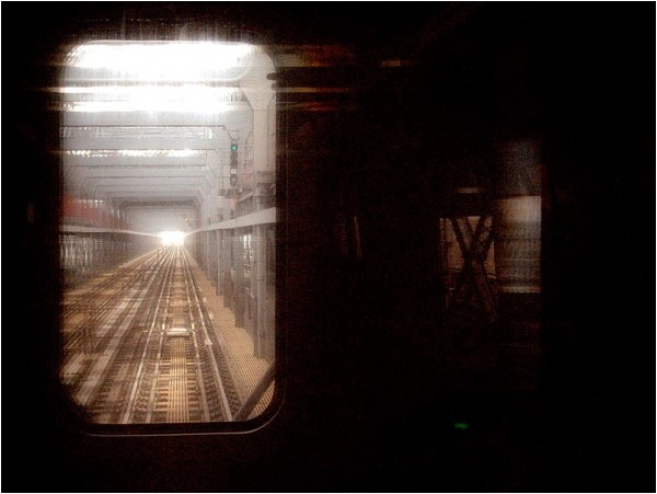 Into the light at Williamsburg Bridge