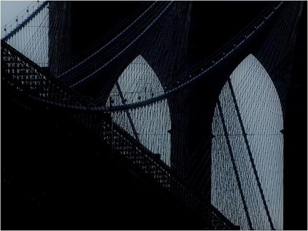 A view of the Brooklyn Bridge