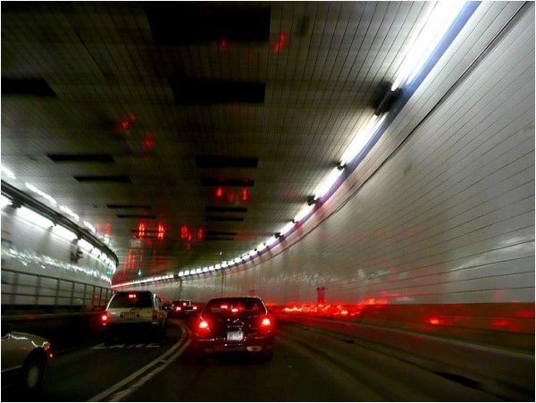 Inside the Lincoln Tunnel