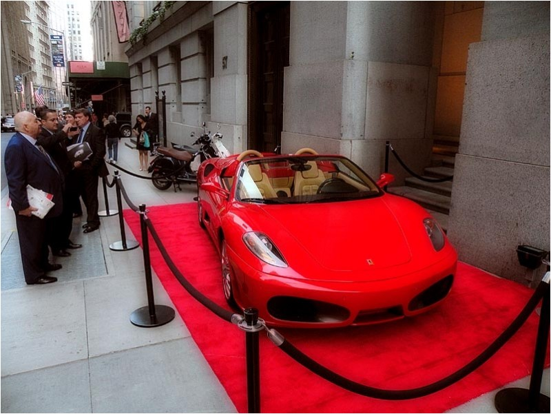 Launching the new Ferrari 430 Spider at Cipriani