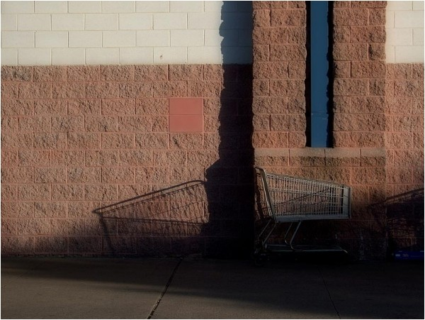 Shadow of a shopping cart