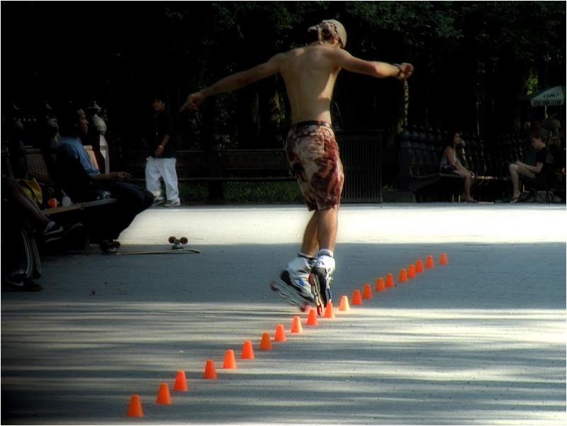 Rollerblading in Central Park