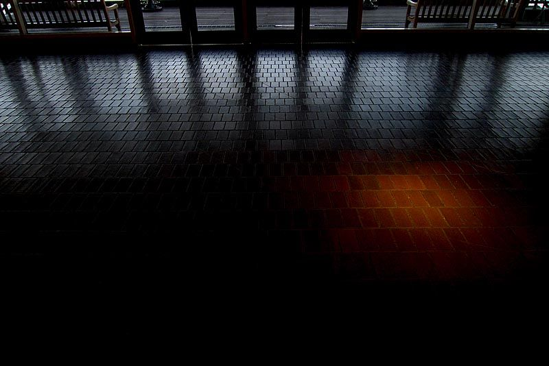 Perspective of the floor at South Seaport