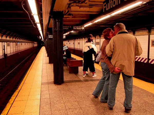 The subway is for lovers