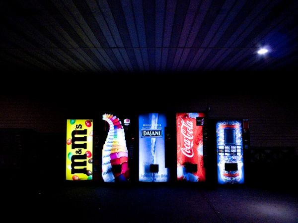 Soda dispensers at Woodbury Commons