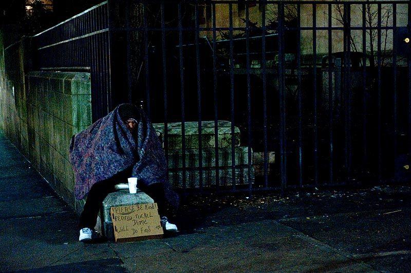 Homeless near St. Bart's