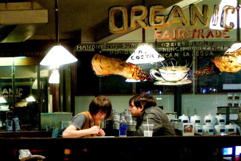 Sweet nothings at Ozzie's coffeeshop