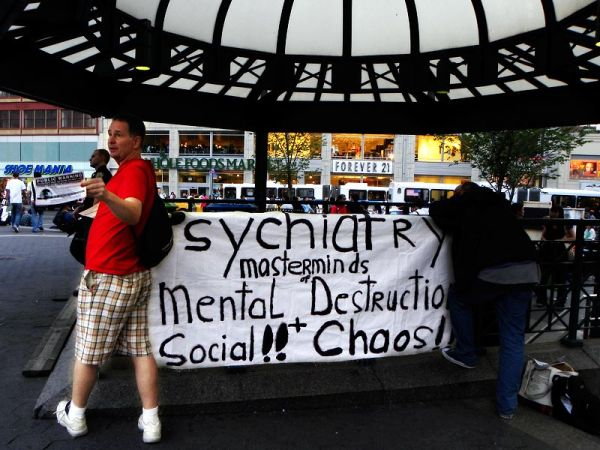 Anti-psychiatry demonstration at Union Square