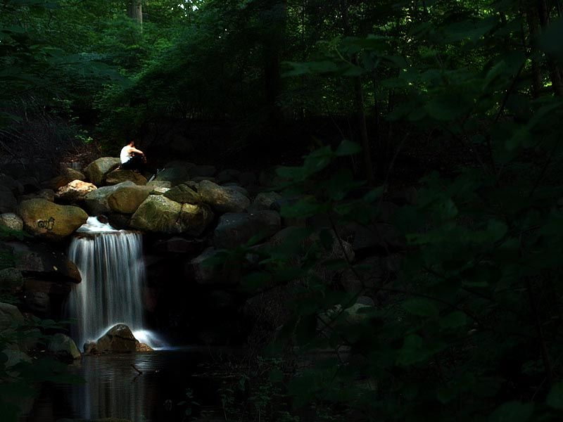 Waterfall in Prospect Park