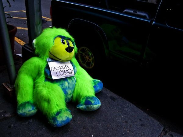 Curious George on Skid Row